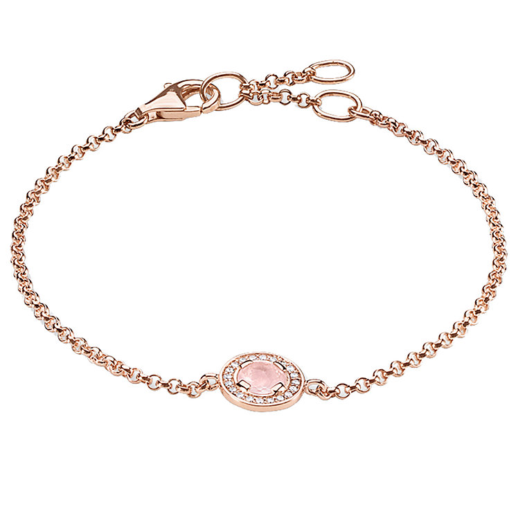 Thomas Sabo Rose Gold Plated Stone Set Bracelet - Product number 5699150