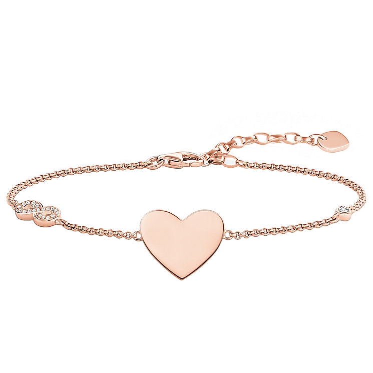 Thomas Sabo Rose Gold Plated Heart Bracelet - Product number 5699177