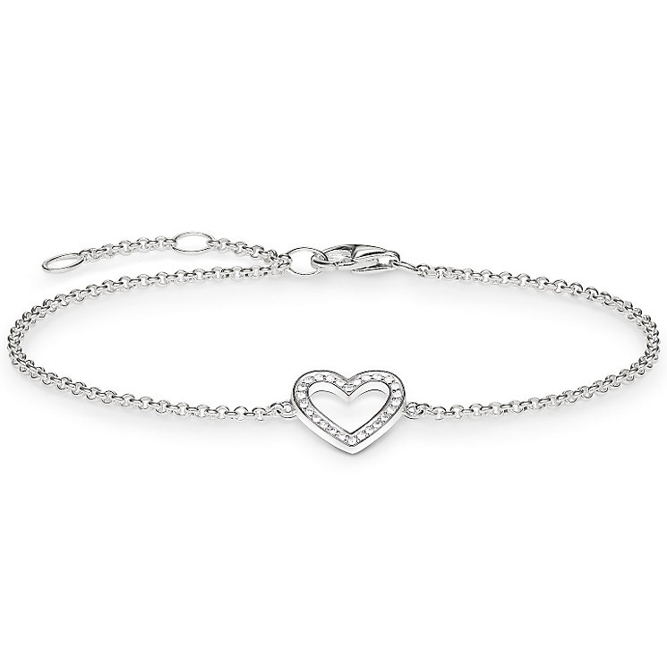 Thomas Sabo Sterling Silver Classic Heart Bracelet - Product number 5699290