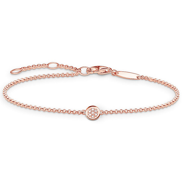Thomas Sabo Rose Gold Plated Diamond Bracelet - Product number 5699339