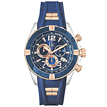 Gc Sportracer Men's Rose Gold Plated Strap Watch - Product number 5704006