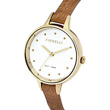 Fiorelli Ladies' Tan Fur Leather Strap Watch - Product number 5706971