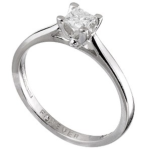 Forever Diamonds 18ct White Gold 1/5 Carat Ring
