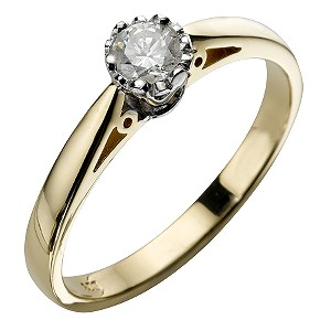 H Samuel 9ct Gold 1/5 Carat Diamond Ring