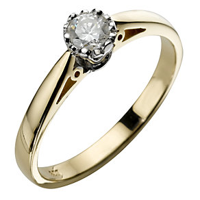 9ct Gold 1/5 Carat Diamond Ring - Product number 5709008