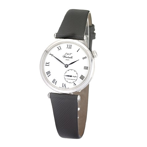 J & T Windmills Gresham ladies platinum mechanical watch