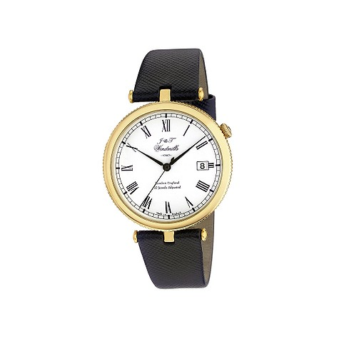 J & T Windmills Threadneedle men's 18ct gold watch