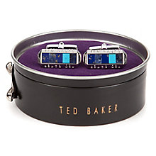 Ted Baker Stainless Steel Blue Cufflinks - Product number 5709334
