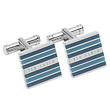 Ted Baker Stainless Steel Teal Cufflinks - Product number 5709520