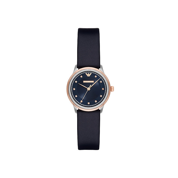 Emporio Armani Ladies' Two Colour Stone Set Strap Watch - Product number 5709709
