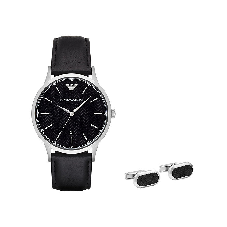 Emporio Armani Men's Cufflink & Watch Set - Product number 5709784