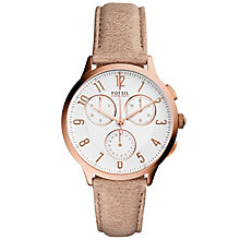 Fossil Abel Ladies' Rose Gold Tone Strap Watch - Product number 5709814