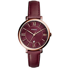 Fossil Jacqueline Ladies' Rose Gold Tone Strap Watch - Product number 5709857