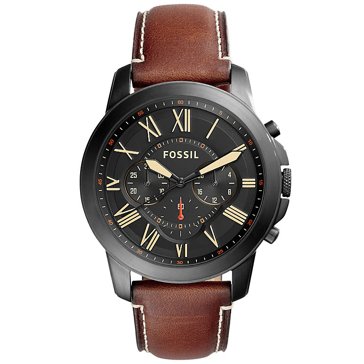 Fossil G rant Men's Ion Plated Strap Watch - Product number 5709881