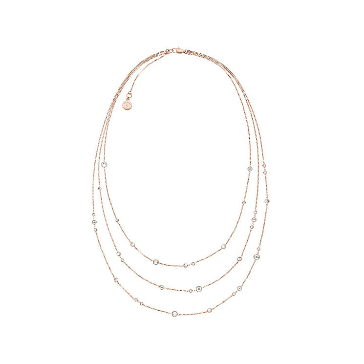 Michael Kors Rose Gold Tone Layered Necklace - Product number 5710472