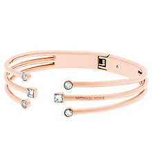 Michael Kors Rose Gold Tone Stone Set Bangle - Product number 5710545
