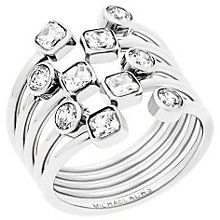 Michael Kors Stainless Steel Stone Set Ring Size N - Product number 5710669