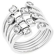 Michael Kors Stainless Steel Stone Set Ring Size P - Product number 5710677
