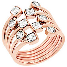 Michael Kors Rose Gold Tone Stone Set Ring Size L - Product number 5710685