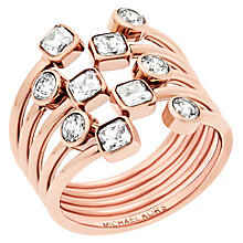 Michael Kors Rose Gold Tone Stone Set Ring Size P - Product number 5710707
