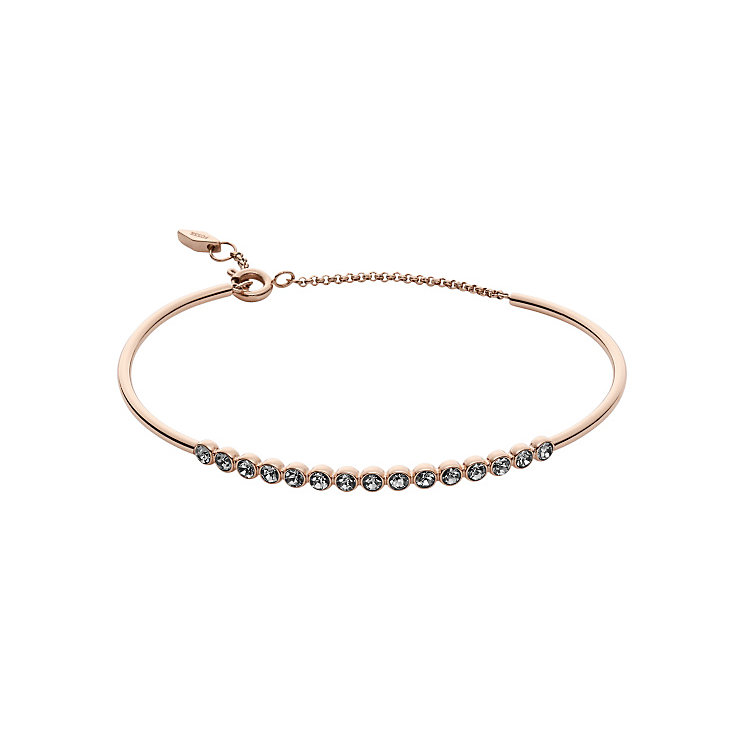Fossil Rose Gold Tone Stone Set Bracelet - Product number 5710928