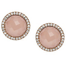 Fossil Rose Gold Tone Stone Set Earrings - Product number 5710944