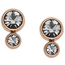 Fossil Rose Gold Tone Stone Set Earrings - Product number 5710952
