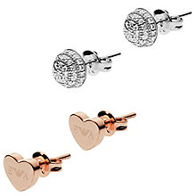 Emporio Armani Sterling Silver Rose Gold Plate Earring Set - Product number 5711355