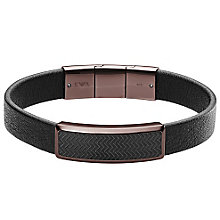 Emporio Armani Men's Ion Plated Logo Bracelet - Product number 5711398