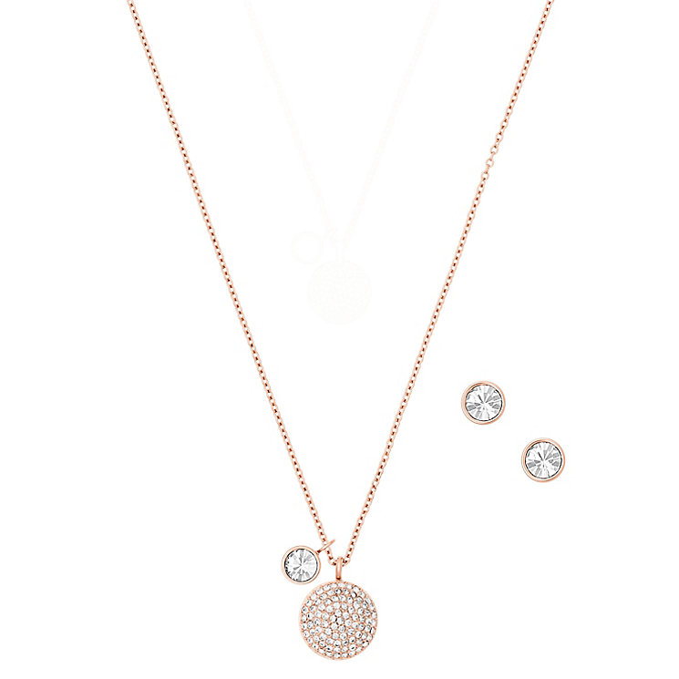 Michael Kors Rose Gold Tone Necklace Earring Set - Product number 5712300