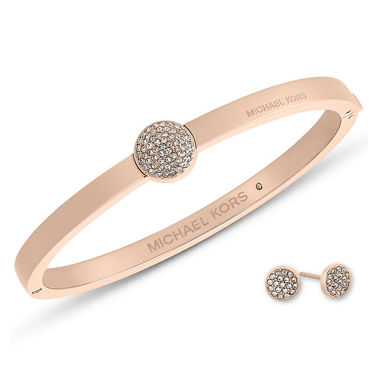 Michael Kors Rose Gold Tone Bangle Earring Gift Set - Product number 5712319