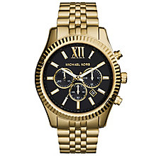 men s michael kors watches ernest jones michael kors men s gold tone bracelet watch product number 5712335