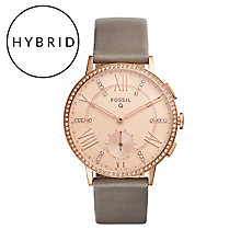 Fossil Q Gazer Ladies' Rose Gold Tone Hybrid Smart Watch - Product number 5712475