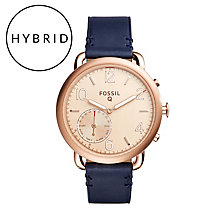 Fossil Q Tailor Ladies' Rose Gold Tone Hybrid Smartwatch - Product number 5712483
