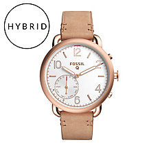 Fossil Q Tailor Ladies' Rose Gold Tone Hybrid Smartwatch - Product number 5712491