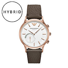 Emporio Armani Connected Men's Brown Strap Hybrid Smartwatch - Product number 5712653