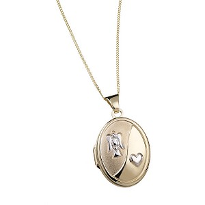 9ct Gold Guardian Angel Locket - Product number 5713102