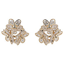 Mikey Gold Tone Crystal Flower Stud Earrings - Product number 5714613