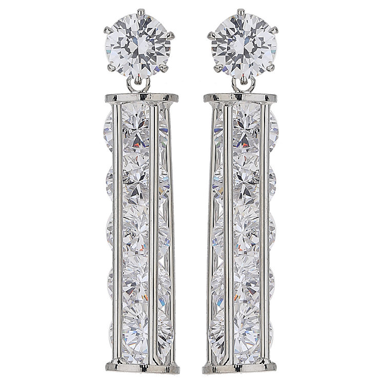 Mikey Drop Cylinder Crystal Earrings - Product number 5714753