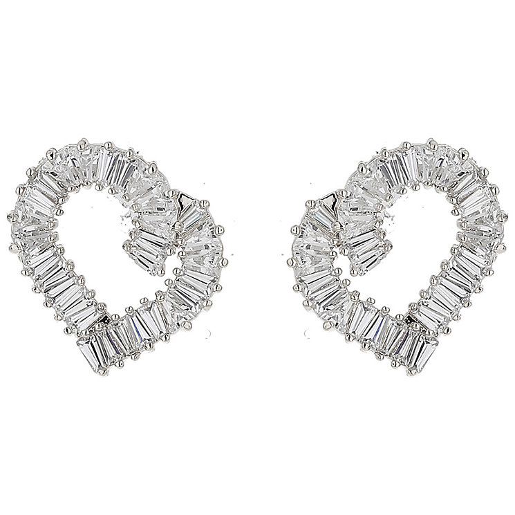 Mikey Baugette Cubic Heart Earrings - Product number 5714788