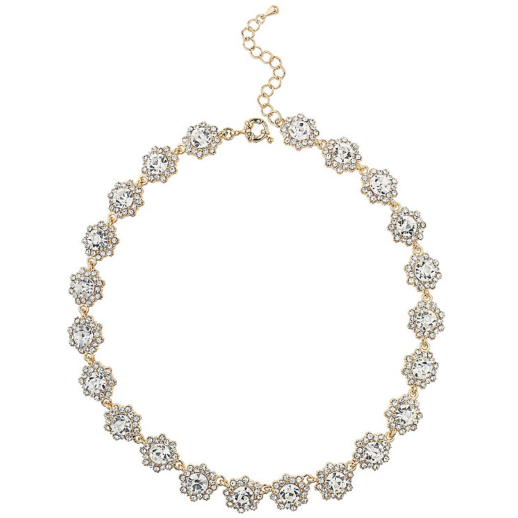 Mikey Gold Tone Crystal Daisy Necklace - Product number 5714958