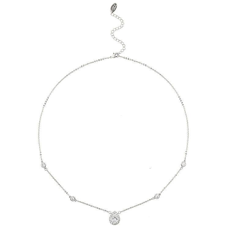 Mikey Silver Tone Pear Shaped Cubic Zirconia Necklace - Product number 5715229
