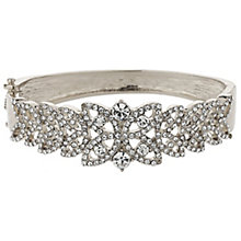 Mikey Filigree Silver Tone Crystal Leaf Bangle - Product number 5715261