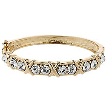 Mikey Gold Tone Crystal Set Cross Design Bangle - Product number 5715318