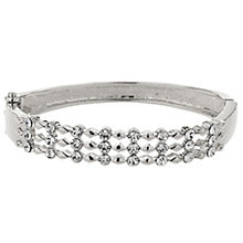 Mikey Silver Tone Triple Band Cubic Zirconia Set Bangle - Product number 5715385