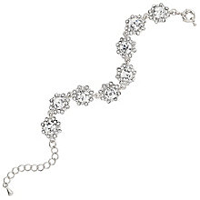 Mikey Silver Tone Daisy Crystal Set Link Bracelet - Product number 5715539