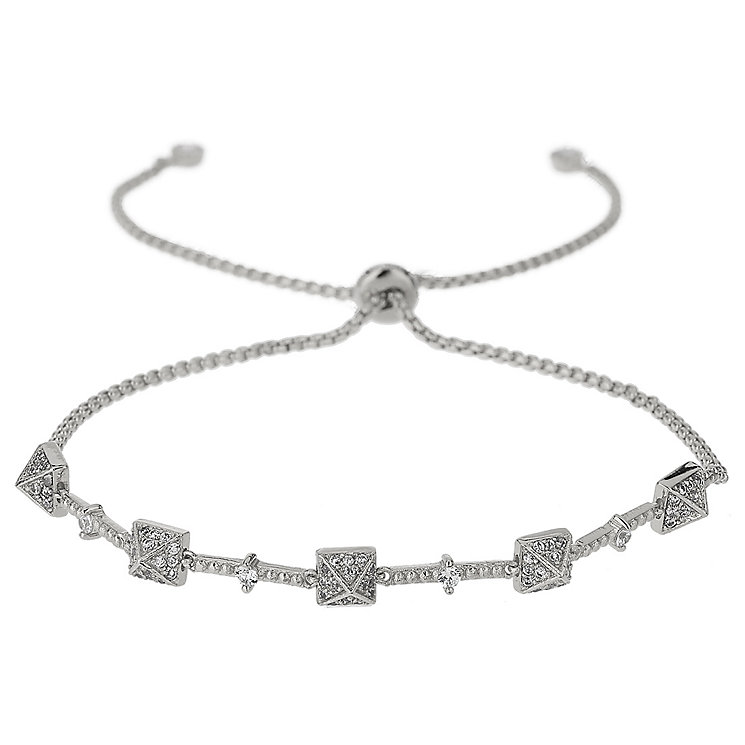 Mikey Silver Tone Crystal Pyramid Bracelet - Product number 5715555