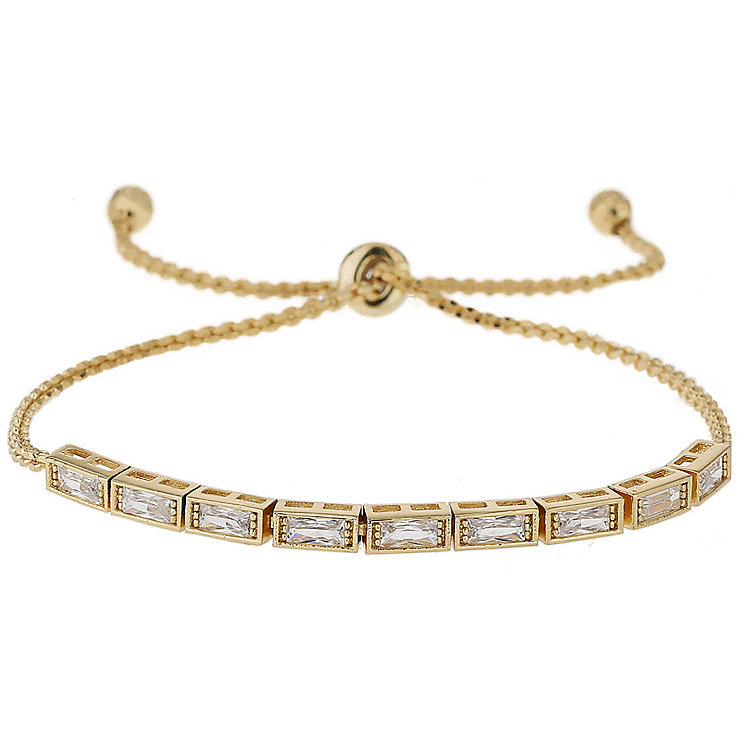 Mikey Gold Tone Rectangular Crystal Bracelet - Product number 5715563