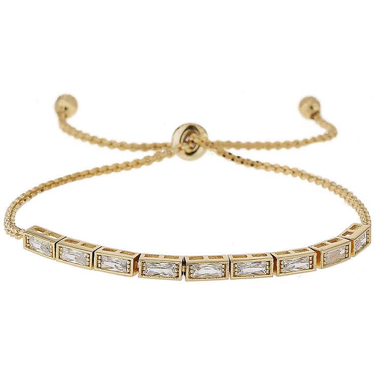Mikey Gold Tone Rectangular Crystal Bracelet - Product number 5715563
