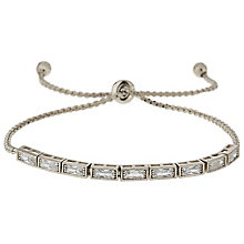 Mikey Silver Tone Rectangular Crystal Bracelet - Product number 5715571
